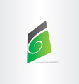 stylized letter g green icon vector image