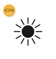 sun icon isolated flat style vector image vector image