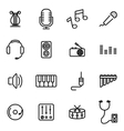 thin line icons - music vector image