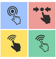 touch icon set vector image vector image