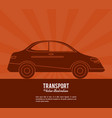 transport car vehicle design vector image