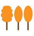 tree orange sign set 306 vector image vector image