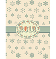 vintage 2013 background and ribbon vector image vector image