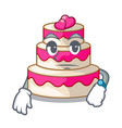 waiting wedding cake isolated with the mascot vector image