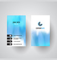 watercolour design business card vector image vector image