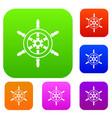 wheel of ship set collection vector image vector image