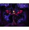 witch character in front dark forest vector image vector image