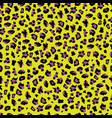 yellow and purple leopard print - abstract vector image vector image