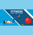 young female athlete doing fitness workout vector image vector image