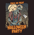 zombie halloween party vector image