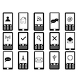 Phones with signs on screen vector image