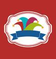 colored hat joker banner vector image