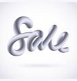 sale typographic design in 3d liquid style vector image