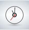 clock icon flat design vector image