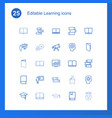 25 learning icons vector image vector image