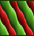 abstract seamless wavy red and green stripes vector image