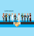 arabic businessman shaking hands in business and vector image vector image