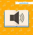 audiobook icon vector image vector image