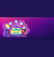autonomous driving concept banner header vector image