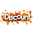 autumn discount background with leaves vector image vector image