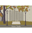 Autumn park New York vector image vector image