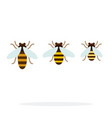 bee different size flat material design isolated vector image vector image