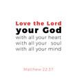 biblical phrase from matthew gospel 2237 love the vector image vector image