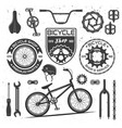 bicycle black elements badges labels vector image vector image