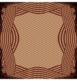 border with striped lines in brown color vector image