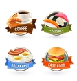 Breakfast Labels Set vector image
