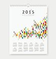 Calendar 2015 colorful geometric template design vector image vector image