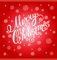 christmas greeting card on a red background vector image
