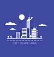 city scape logo vector image vector image