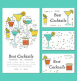 cocktail card template vector image vector image