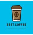 cofee logotype template vector image