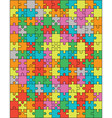 colorful puzzle separate pieces vector image vector image