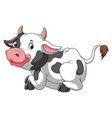 cute cow sitting with white background vector image vector image