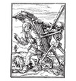 dance death pedlar from hans holbeins vector image vector image