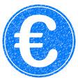 euro coin grunge icon vector image vector image