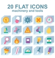 flat icons on the background of cube vector image vector image