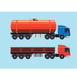flat of trucks vector image vector image