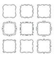 flourishes vintage frames vector image vector image