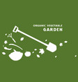 flyer for organic vegetable garden vector image vector image