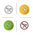 forbidden sign with piercing gun icon vector image vector image