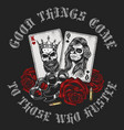 gangsta concept with playing card vector image vector image