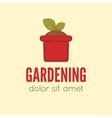 Garden center emblem or label badge logo vector image vector image