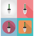 garden tools flat icons 09 vector image