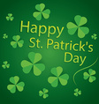 happy saint patricks day 17 march shamrock leaves vector image