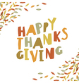 Happy Thanksgiving card design Paper Cut Letters vector image