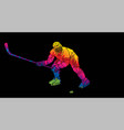 ice hockey player action cartoon sport graphic